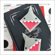 Adorable DIY Corner Shark Bookmarks
