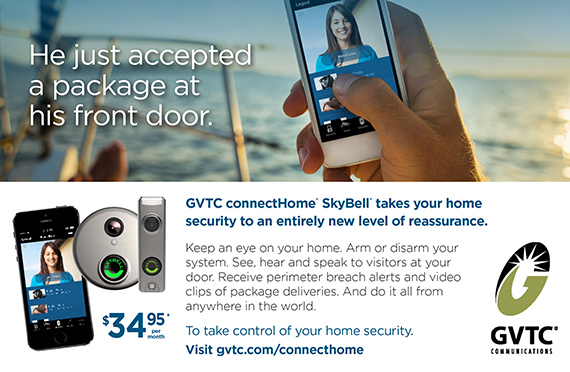 GVTC connectHome SkyBell takes your home security to an entirely new level of reassurance.