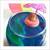 Fun Jell-o Bowls With Jelly Sharks