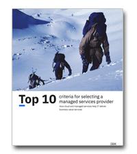 De top 10 criteria voor het kiezen van een managed service provider