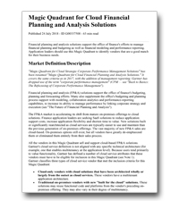 Magic Quadrant voor Cloud Financial Planning & Analysis Solutions